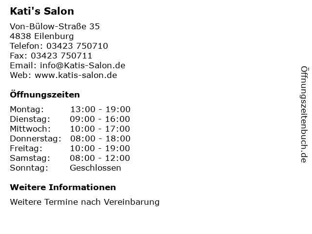 Kati's Salon in Eilenburg: Adresse und Öffnungszeiten