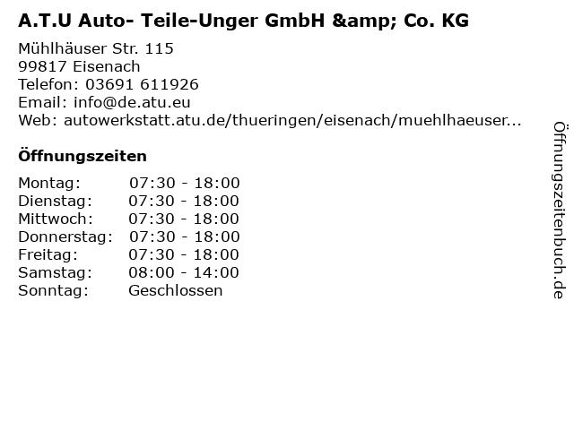 A.T.U Auto- Teile-Unger GmbH & Co. KG in Eisenach: Adresse und Öffnungszeiten
