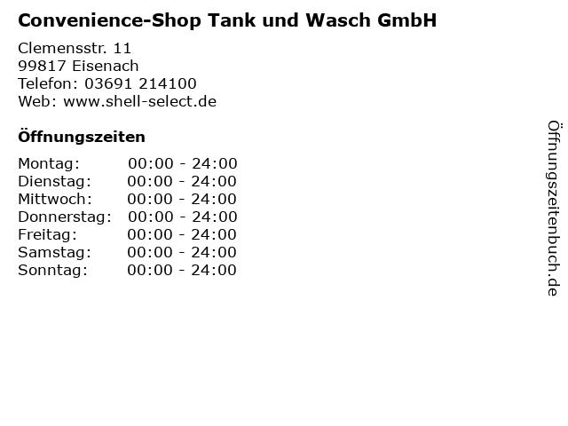 Convenience-Shop Tank und Wasch GmbH in Eisenach: Adresse und Öffnungszeiten