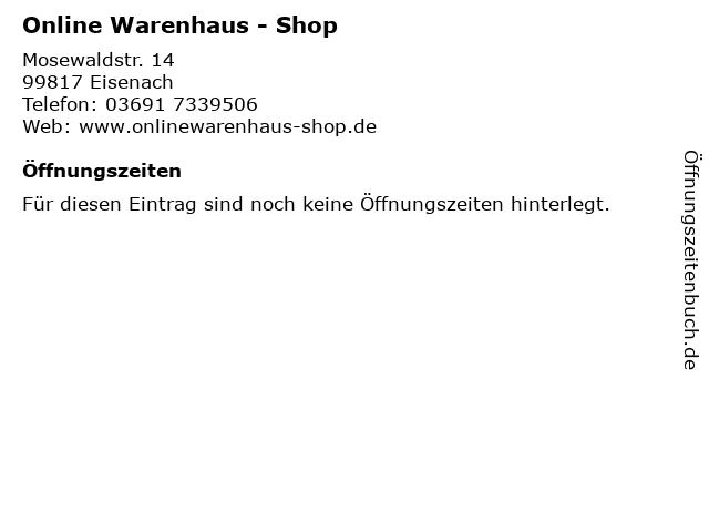 Online Warenhaus - Shop in Eisenach: Adresse und Öffnungszeiten