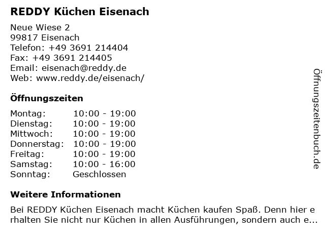 REDDY Küchen Eisenach in Eisenach: Adresse und Öffnungszeiten