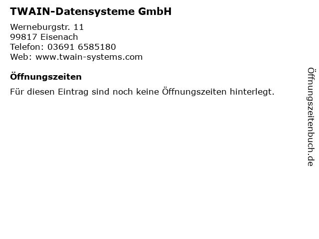 TWAIN-Datensysteme GmbH in Eisenach: Adresse und Öffnungszeiten