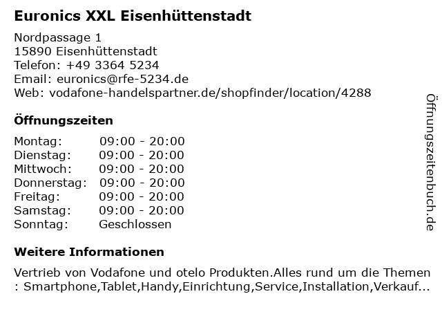 Euronics XXL Eisenhüttenstadt in Eisenhüttenstadt: Adresse und Öffnungszeiten