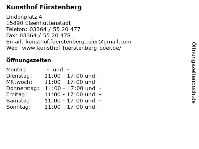 Kunsthof Fürstenberg in Eisenhüttenstadt: Adresse und Öffnungszeiten