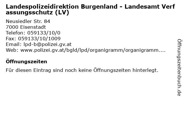 ᐅ öffnungszeiten Landespolizeidirektion Burgenland Landesamt