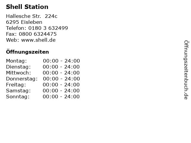 Shell Station in Eisleben: Adresse und Öffnungszeiten