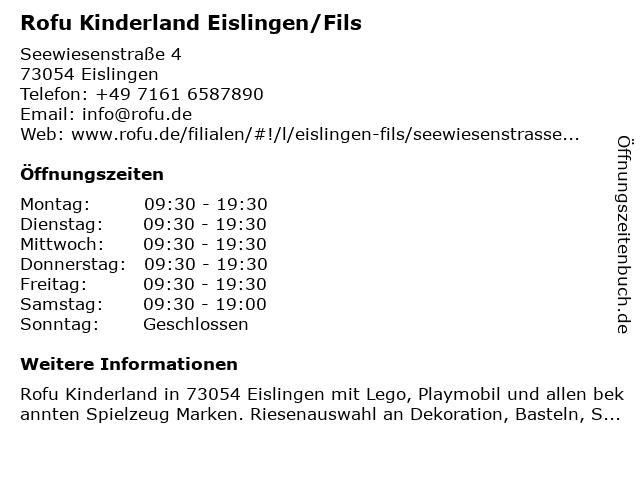 Rofu Kinderland Eislingen/Fils in Eislingen/Fils: Adresse und Öffnungszeiten