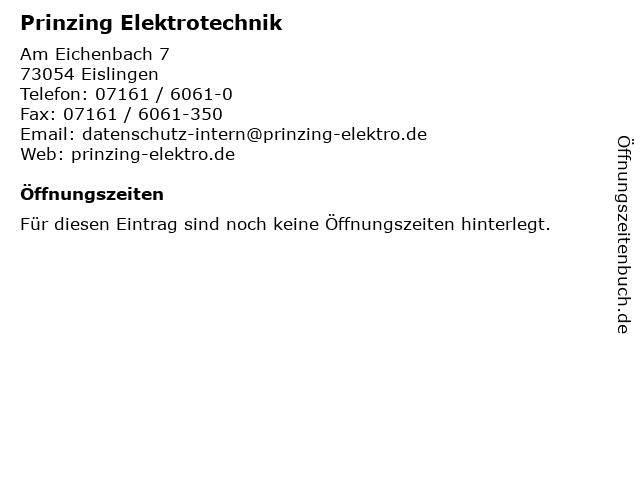 Prinzing Elektrotechnik in Eislingen: Adresse und Öffnungszeiten