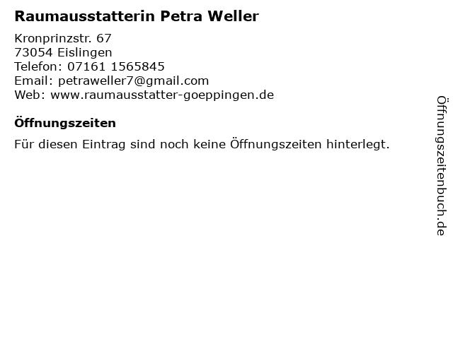 Raumausstatterin Petra Weller in Eislingen: Adresse und Öffnungszeiten