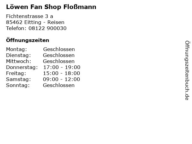 Löwen Fan Shop Floßmann in Eitting - Reisen: Adresse und Öffnungszeiten