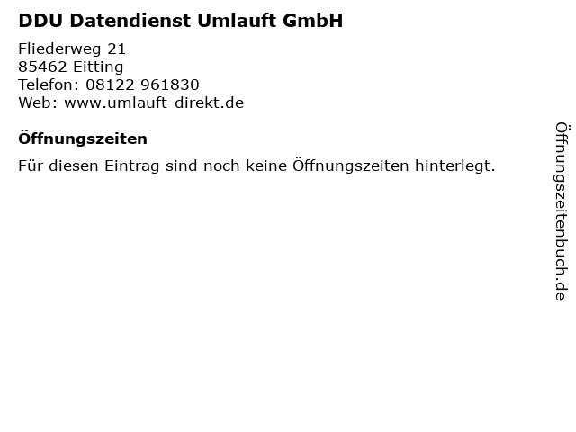 DDU Datendienst Umlauft GmbH in Eitting: Adresse und Öffnungszeiten