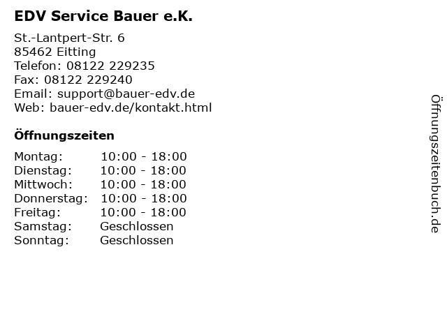 EDV Service Bauer e.K. in Eitting: Adresse und Öffnungszeiten