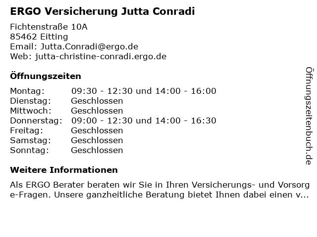 ERGO Versicherung Jutta Conradi in Eitting: Adresse und Öffnungszeiten