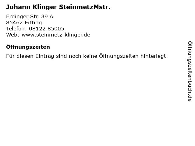 Johann Klinger SteinmetzMstr. in Eitting: Adresse und Öffnungszeiten
