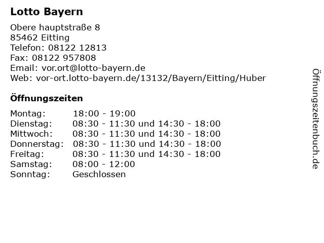 Lotto Bayern in Eitting: Adresse und Öffnungszeiten