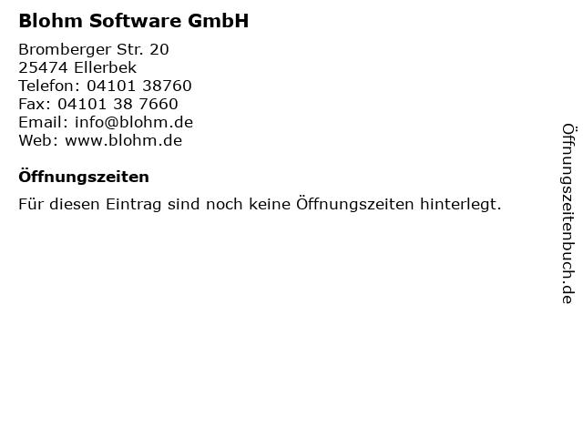 Blohm Software GmbH in Ellerbek: Adresse und Öffnungszeiten