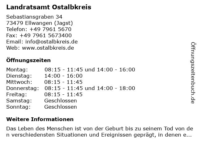 Landratsamt Ostalbkreis in Ellwangen (Jagst): Adresse und Öffnungszeiten