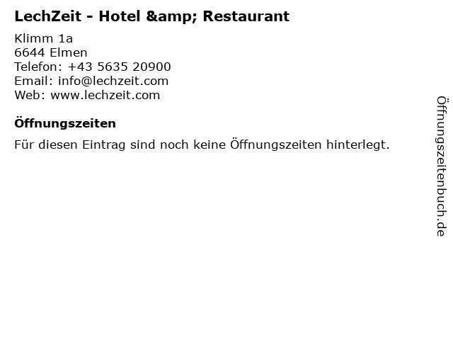 LechZeit - Hotel & Restaurant in Elmen: Adresse und Öffnungszeiten