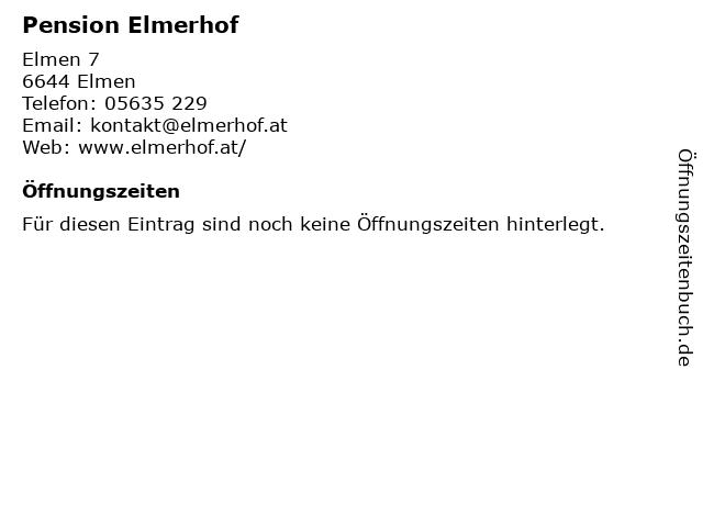Pension Elmerhof in Elmen: Adresse und Öffnungszeiten