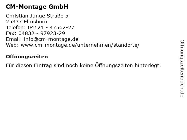 CM-Montage GmbH in Elmshorn: Adresse und Öffnungszeiten