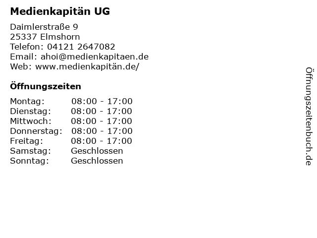Medienkapitän UG in Elmshorn: Adresse und Öffnungszeiten