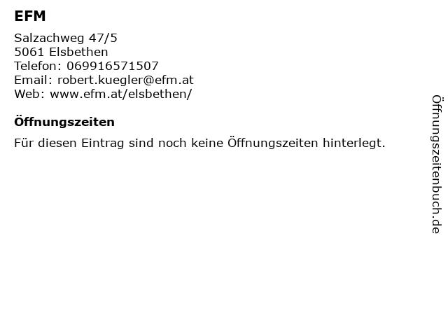 EFM in Elsbethen: Adresse und Öffnungszeiten