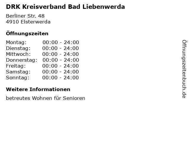 DRK Kreisverband Bad Liebenwerda in Elsterwerda: Adresse und Öffnungszeiten