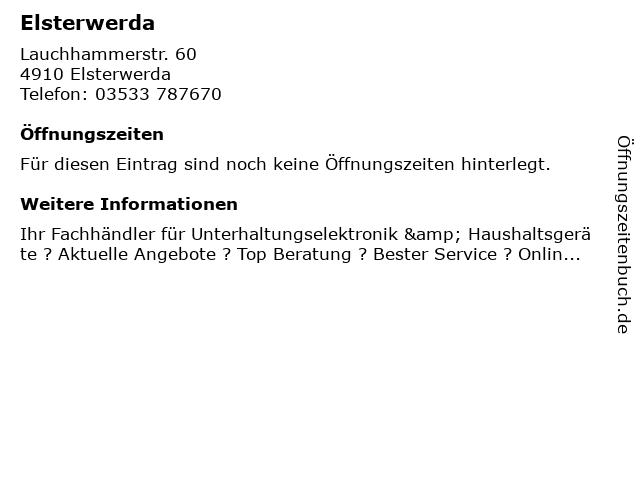 MEDIMAX Electronics Object Elsterwerda GmbH in Elsterwerda: Adresse und Öffnungszeiten