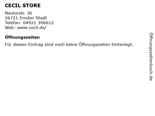 CECIL STORE in Emden Stadt: Adresse und Öffnungszeiten