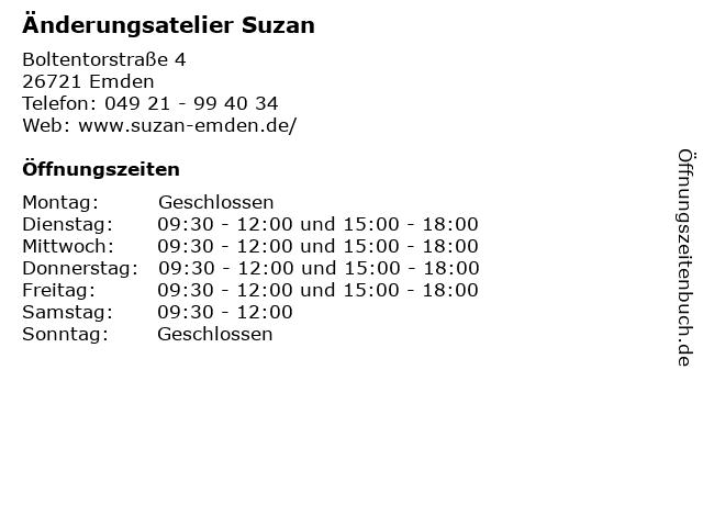 Änderungsatelier Suzan in Emden: Adresse und Öffnungszeiten