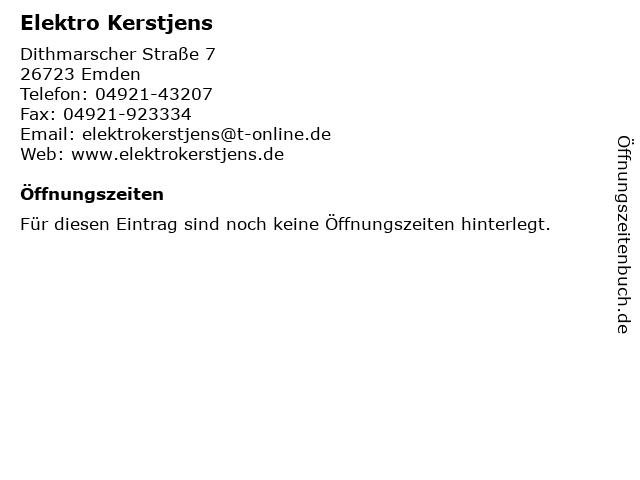 Elektro Kerstjens in Emden: Adresse und Öffnungszeiten