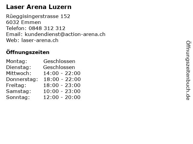 Laser Arena Luzern in Emmen: Adresse und Öffnungszeiten