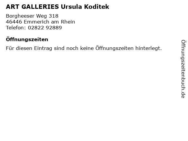 ART GALLERIES Ursula Koditek in Emmerich am Rhein: Adresse und Öffnungszeiten