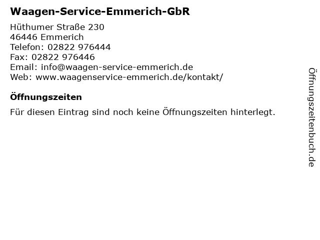 Waagen-Service-Emmerich-GbR in Emmerich: Adresse und Öffnungszeiten