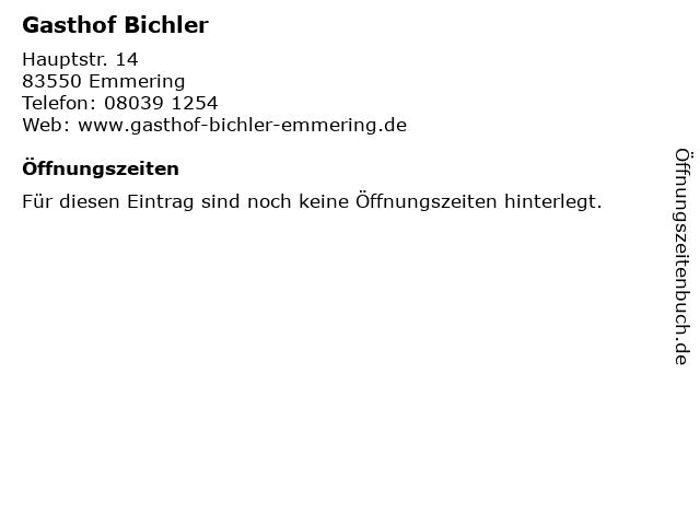 Gasthof Bichler in Emmering: Adresse und Öffnungszeiten