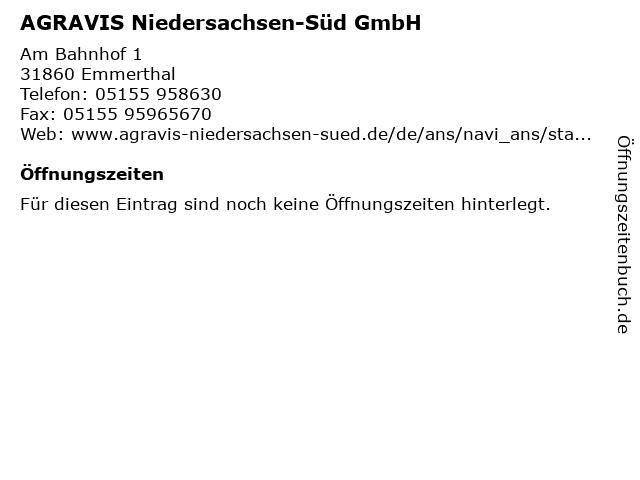 AGRAVIS Niedersachsen-Süd GmbH in Emmerthal: Adresse und Öffnungszeiten