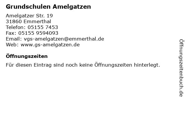 Grundschulen Amelgatzen in Emmerthal: Adresse und Öffnungszeiten