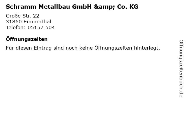 Schramm Metallbau GmbH & Co. KG in Emmerthal: Adresse und Öffnungszeiten