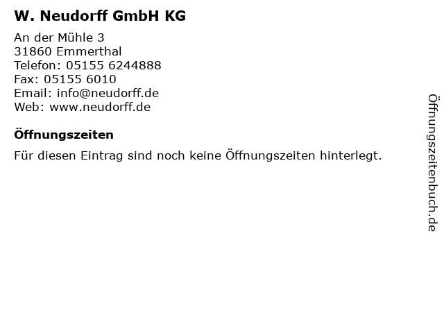 W. Neudorff GmbH KG in Emmerthal: Adresse und Öffnungszeiten