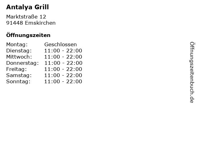 Antalya Grill in Emskirchen: Adresse und Öffnungszeiten