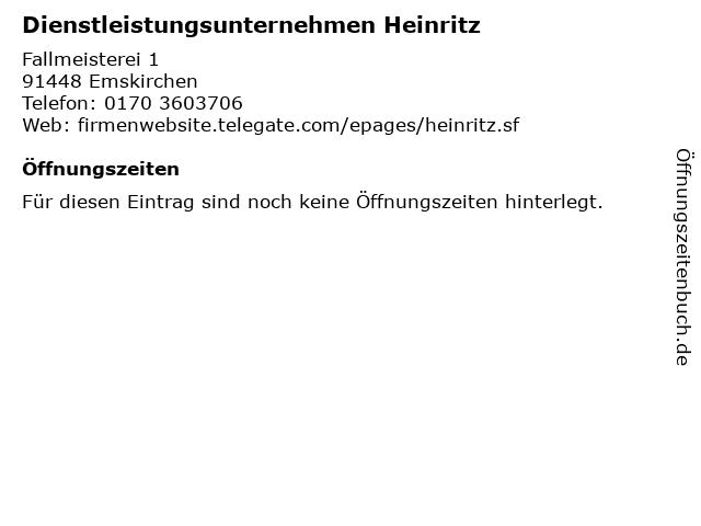 Dienstleistungsunternehmen Heinritz in Emskirchen: Adresse und Öffnungszeiten