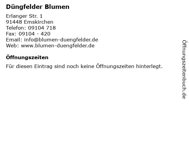 Düngfelder Blumen in Emskirchen: Adresse und Öffnungszeiten