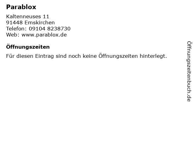 Parablox in Emskirchen: Adresse und Öffnungszeiten