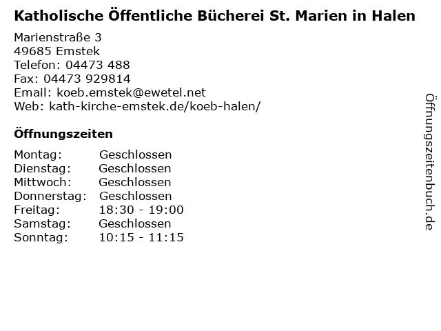 a0560d6c324d99 Bilder zu Katholische Öffentliche Bücherei St. Marien in Halen in Emstek