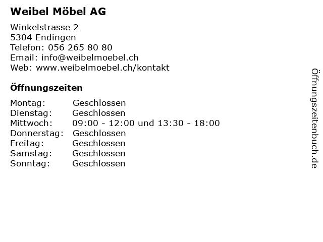 Weibel Möbel in Endingen: Adresse und Öffnungszeiten