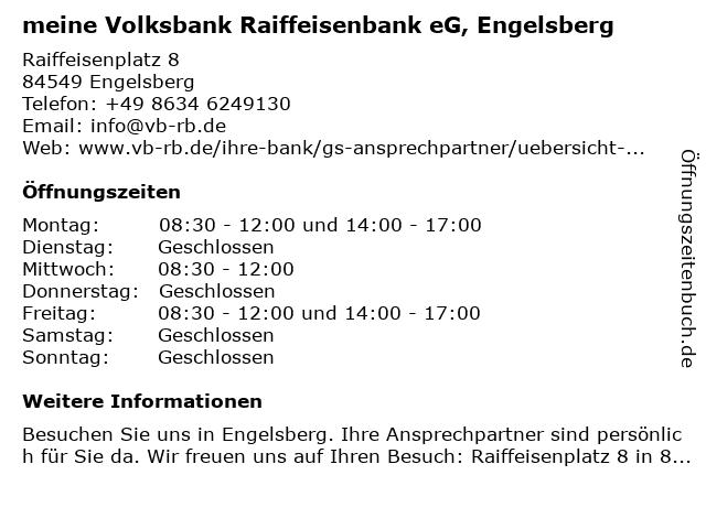 VR meine Raiffeisenbank eG in Engelsberg: Adresse und Öffnungszeiten