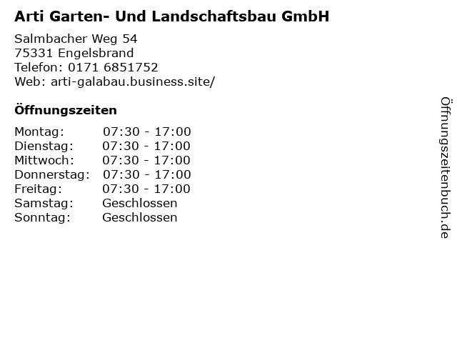 Arti Garten- Und Landschaftsbau GmbH in Engelsbrand: Adresse und Öffnungszeiten