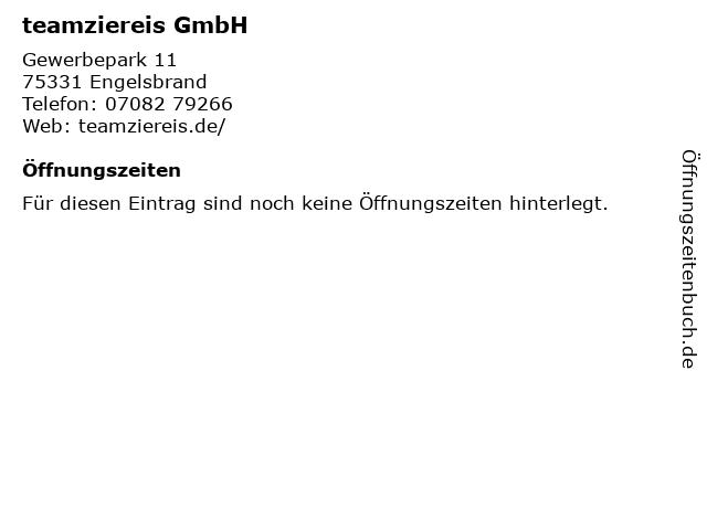 teamziereis GmbH in Engelsbrand: Adresse und Öffnungszeiten