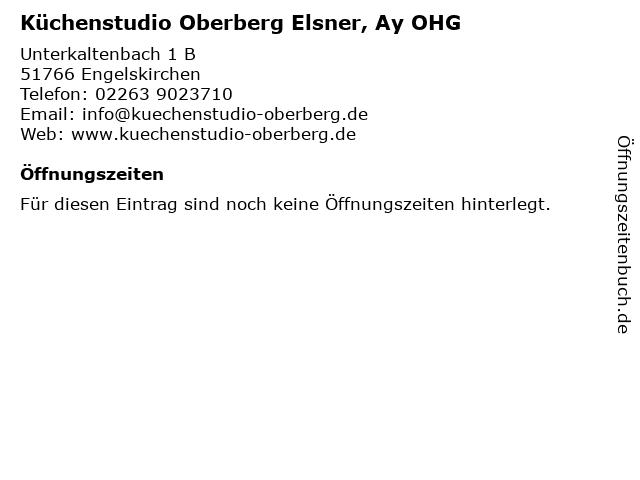 ᐅ Offnungszeiten Kuchenstudio Oberberg Elsner Ay Ohg