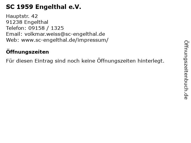 SC 1959 Engelthal e.V. in Engelthal: Adresse und Öffnungszeiten